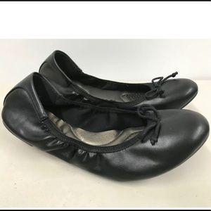 DEXFLEX Comfort Women Black Scrunch Ballet Flat